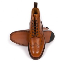 Loake Burford 2 tan 6 eye...