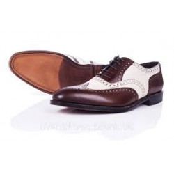 Loake Sloane brown & cream...