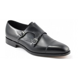 Loake Cannon black double monk