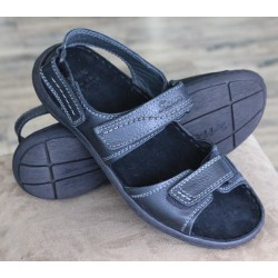 Sioux Kimo black sandal