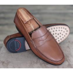 Sioux Edu cognac penny loafer