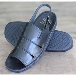 Sioux Venezuela black sandal
