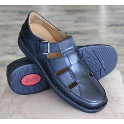 Sioux Barano black sandal