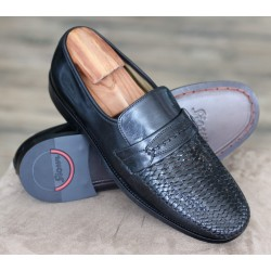 Sioux Vargo black woven loafer