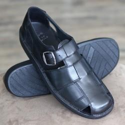 Sioux Basir black sandal