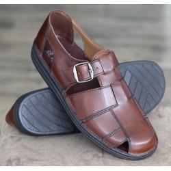 Sioux Basir kaffee sandal