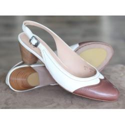 Sioux Lexa cognac/white sandal