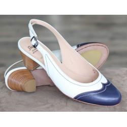 Sioux Lexa ocean/white sandal