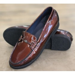 Sioux Loisa brown moccasin