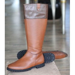 Sioux Dieta cognac zip boot