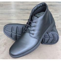 Hotter Quebec black half boot