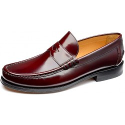 Loake Kingston burgundy loafer