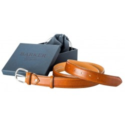 Barker men's leather belt