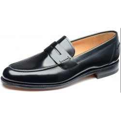 Loake 256B black saddle loafer