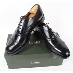 Loake 201B black 5 eye semi...