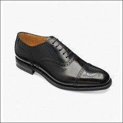 Loake 301 black punched...