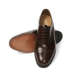 Loake Oban brown 5 eye semi...
