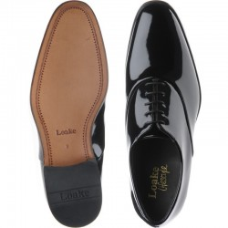 Loake Patent black 5 eye...