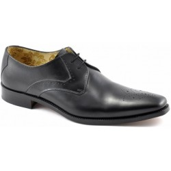 Loake Powers black 2 eye...