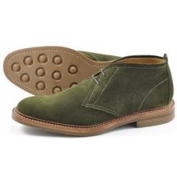 Loake Sandown olive green...